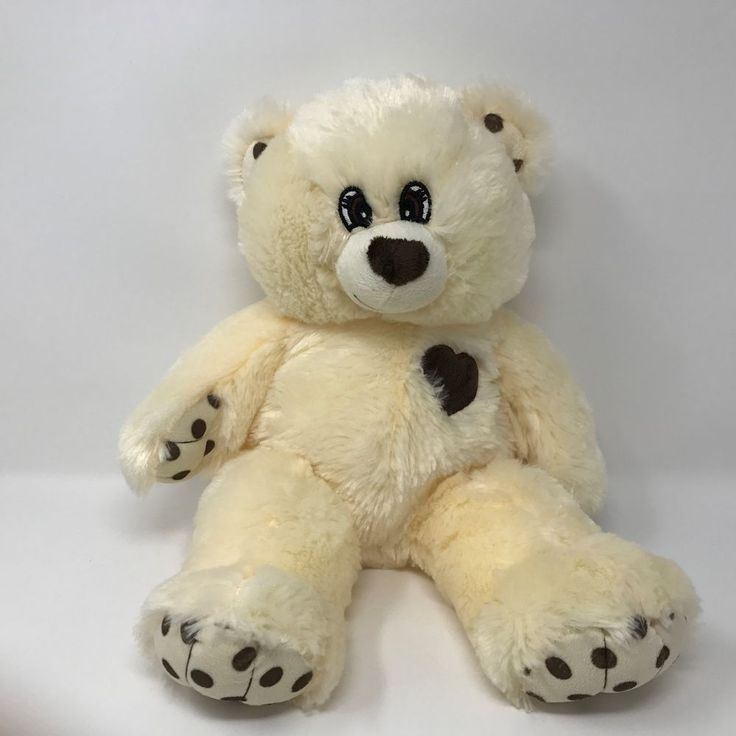 """The Bear Factory Plush White Brown Teddy Bear Stuffed Animal Toy 2001 16"""" #TheBearFactory #AllOccasion"""