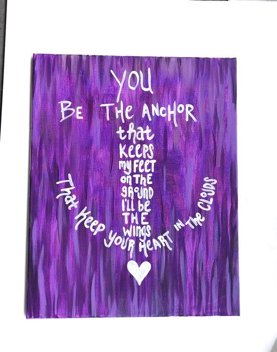 You be the anchor canvas painting Beach decor Mayday parade song Anchor quote canvas on Etsy, $29.00
