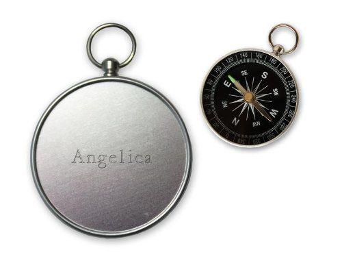 Pequeña brújula con grabado nombre de Angelica (nombre de pila/apellido/apodo)