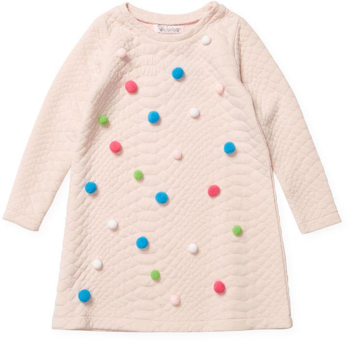 Halabaloo 3D Pom Pom Dress