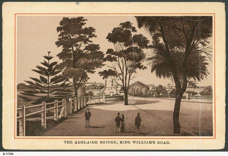 The Adelaide Bridge, King William's Road c1880