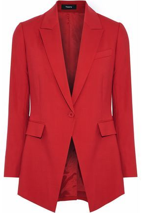 0d23234b82 THEORY WOMAN ETIENNETTE B WOOL-BLEND BLAZER RED. #theory #cloth ...