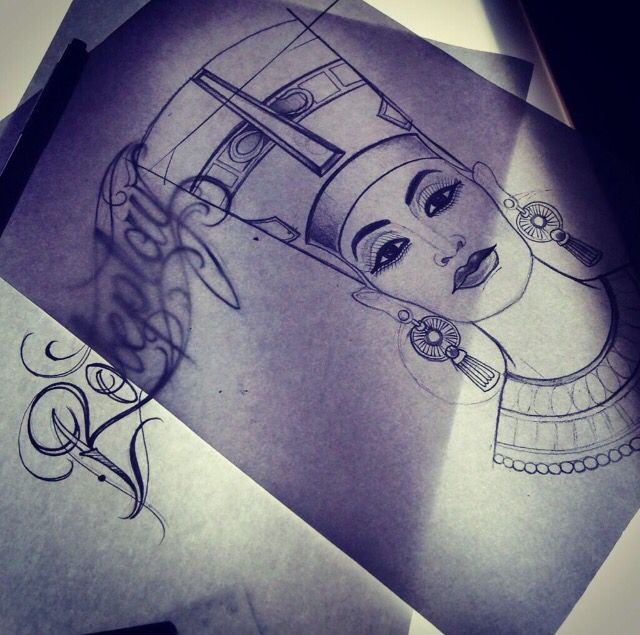 17 best ideas about nefertiti tattoo on pinterest egyptian queen tattoos queen nefertiti and. Black Bedroom Furniture Sets. Home Design Ideas