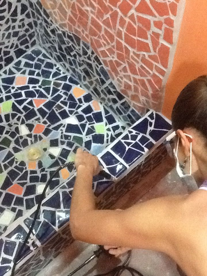 Piso ducha #mosaico