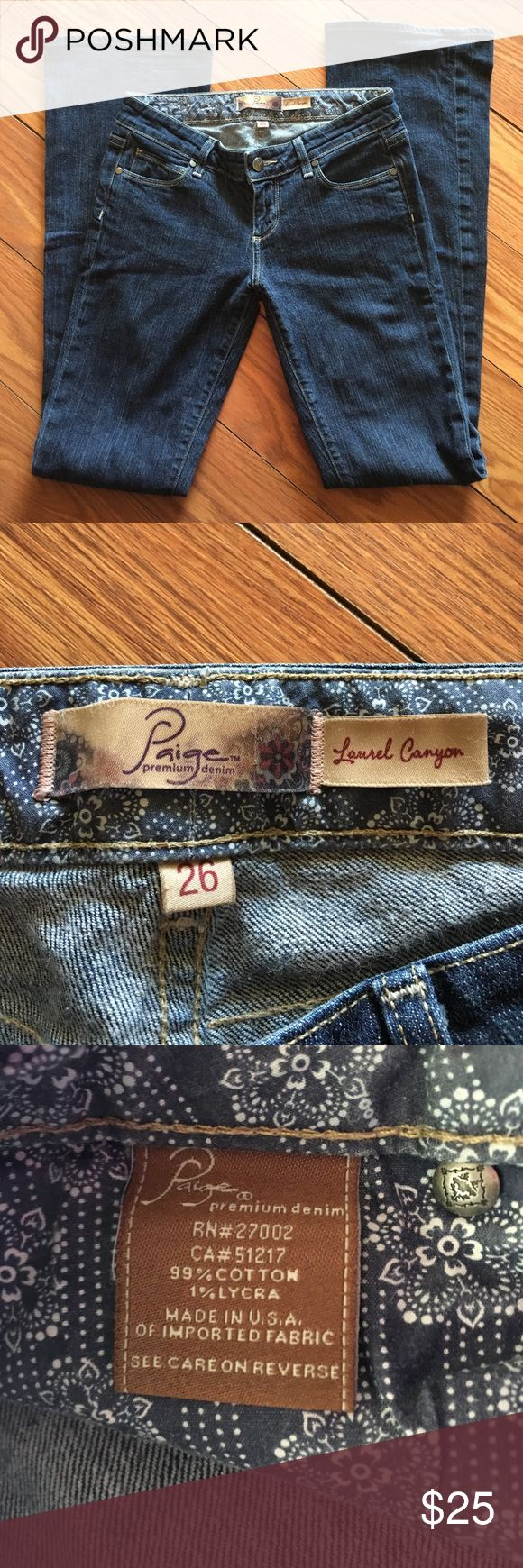 Paige Jeans Paige Jean size 26. EUC with no fraying on the bottom of legs PAIGE Jeans