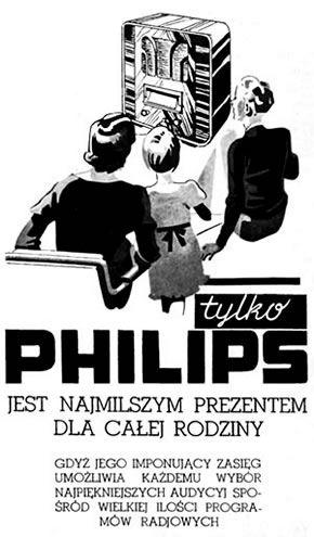 Tylko PHILIPS jest najmilszym prezentem dla całej rodziny - reklama prasowa, 1936 rok