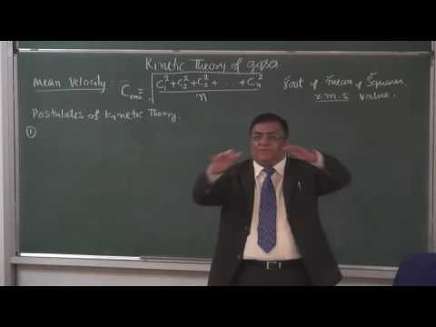 XI 12 5 Kinetic theory of gases 2015Pradeep Kshetrapal Physics   YouTube