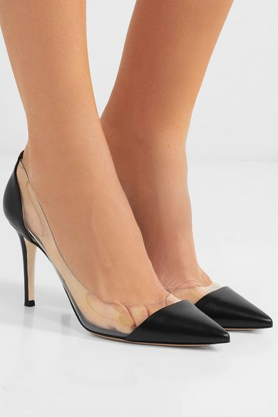 9cb7794b739 Gianvito Rossi - Plexi 85 leather and PVC pumps | Wish List | Pumps ...