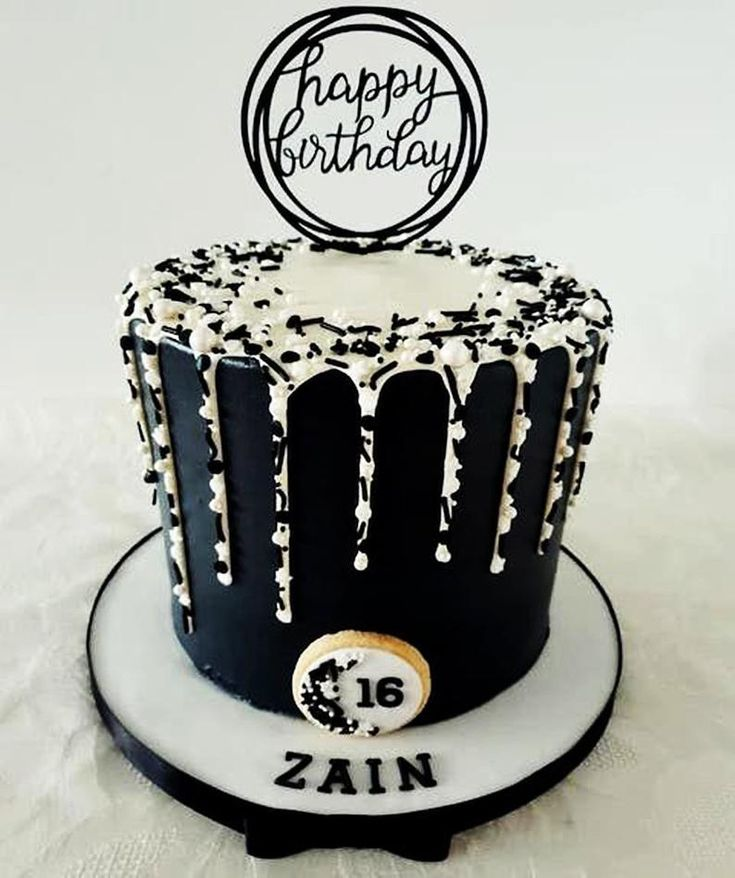 Birthday Cakes For Men, Beautiful Birthday Cakes, Happy Birthday Cake Topper, Birthday Cake Decorating, Designer Birthday Cakes, Men Birthday Cakes, Drip Cakes, Bolo Drip Cake, Cake Design For Men