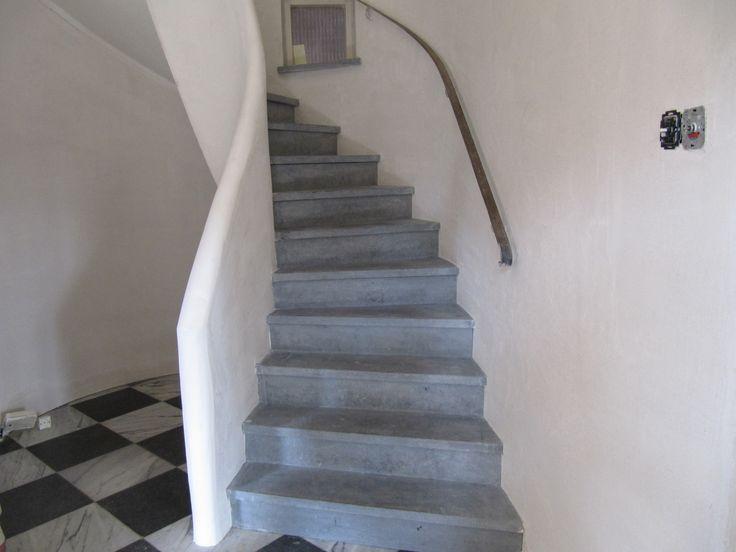 15 beste afbeeldingen over trap op pinterest ijzeren leuningen trappen en houten trap - Ontwerp betonnen trap ...