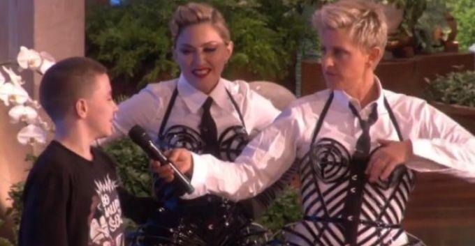 Madonna junto a su hijo Rocco en el show de Ellen [Video]