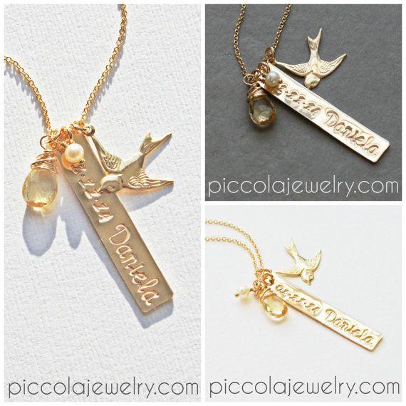 Neue Mom Halskette  von PiccolaCustomJewelry auf Etsy