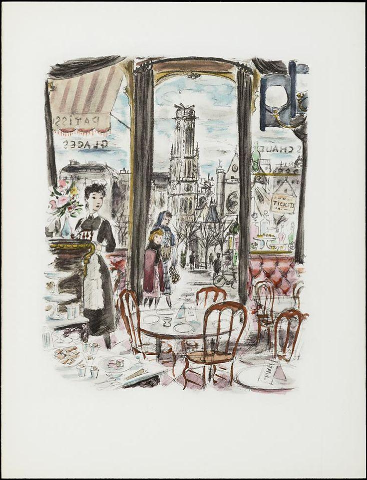 """""""Paris de ma fenêtre"""" • Auteur: Colette (1873 - 1954) / Illustration: André Dignimont (1891 - 1965)"""