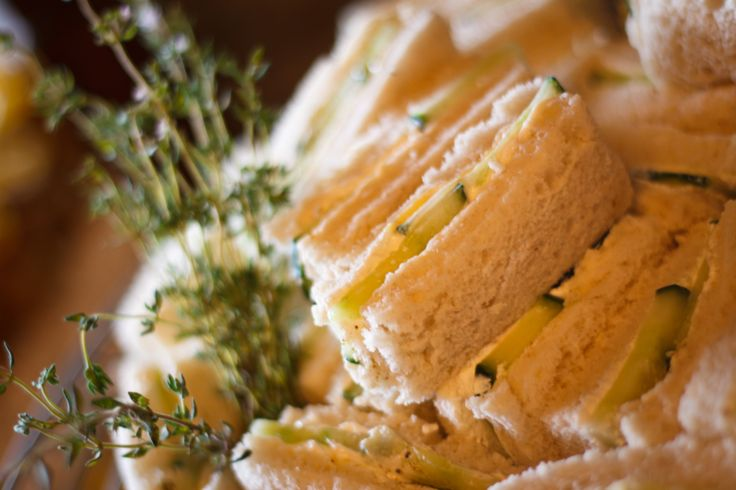 Cream Cheese and Cucumber Sandwiches for the High Tea at Dune Ridge Country House www.duneridgestfrancis.co.za