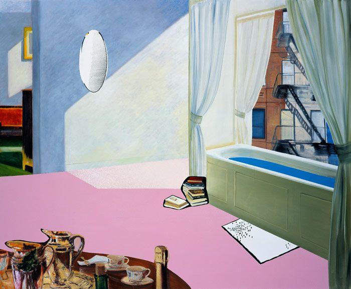 Dexter Dalwood - He must like Edward Hopper <3