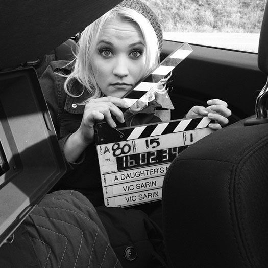 "Emily Osment and Gregg Sulkin wrap filming ""A Daughter's Nightmare""!"