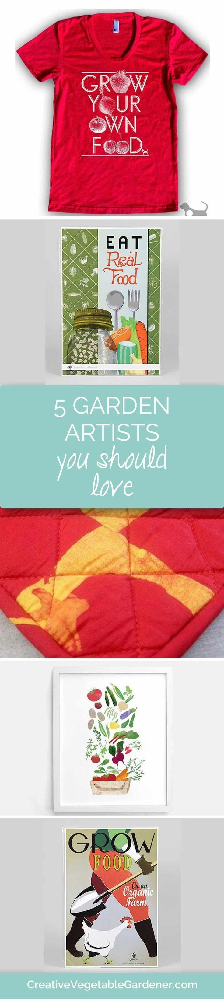 Vegetable garden art - 5 Favorite Garden Artists Featured In My Own House