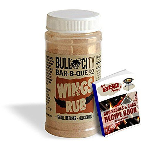 Wing Rub from Award Winning Bull City Bar B Que Co Old Style Gourmet Rub  Made with Paprika Turmeric and other spices w FREE BBQ SAUCES  RUBS RECIPE EBOOK Wing Rub 85 oz *** You can get additional details at the image link.