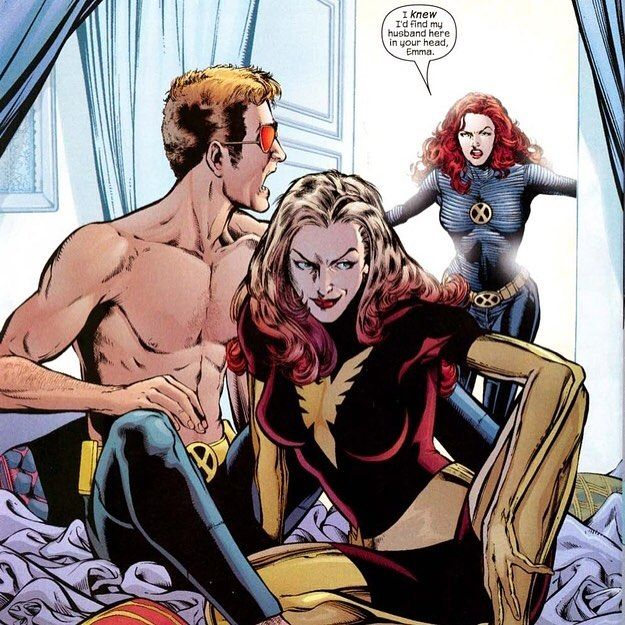 When Jean begins to show signs of the Phoenix Force again the distance between the two grows larger and Scott begins abstaining from sex with Jean for the five months. Jean attempts several times to confront Cyclops but he continues to push her away claiming that Apocalypse had changed him too much on the inside. Jean confused by the change in their relationship confides in Logan and the two kiss in the woods outside the school but Logan walks away telling her that she should remain with…