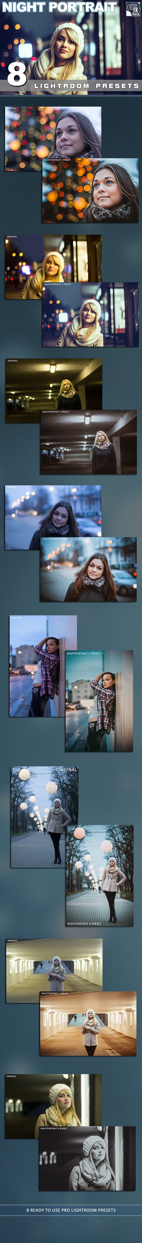 8 Night Portrait Lightroom Presets