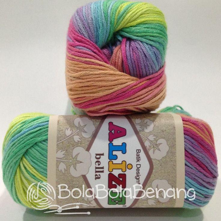 Alize Bella Batik 4151, Price: Rp.65.000,- /gulung, Bahan: 100% COTTON, Berat/Panjang: 50gram/180mt, Knitting Needles: 2mm - 4mm, Crochet Hook: 1mm - 3mm