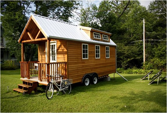 timber trailer home...