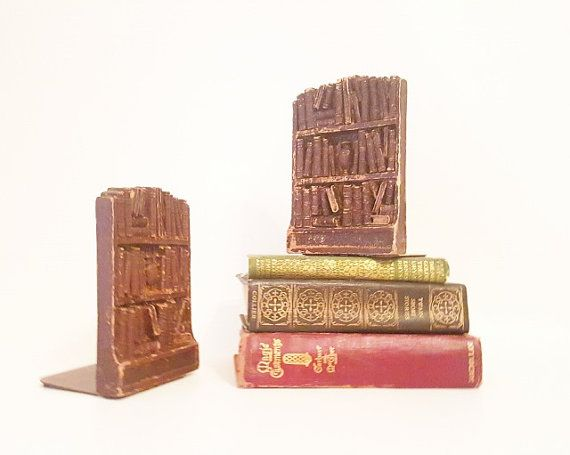 Book Ends Vintage Bookends Midcentury Home Decor Book Shelves Library Decor…