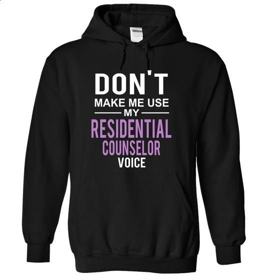 Use RESIDENTIAL COUNSELOR voice - design your own t-shirt #make t shirts #graphic tee