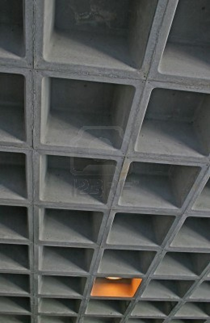 Stock Photo Waffle Ceiling Ceiling Design Concrete