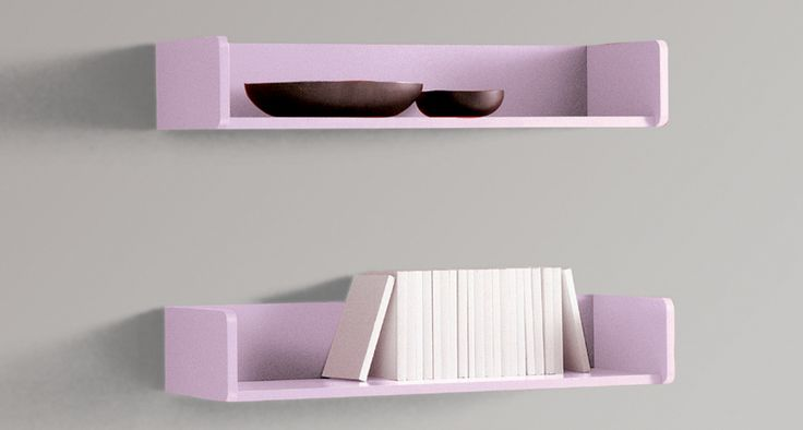 Shelves | Wall shelves with shelf brackets sight and disappeared. Tray shelves and wall units colored wall structure with melamine. Bar Pica Up on wall variously equipped.