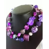 Purple Lovers Signature Necklace, 100cm