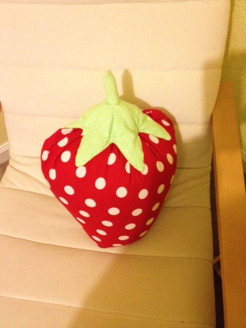 oversized strawberry pillow by carriemason on Etsy