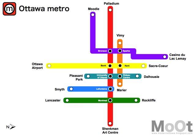 An extensive underground subway system