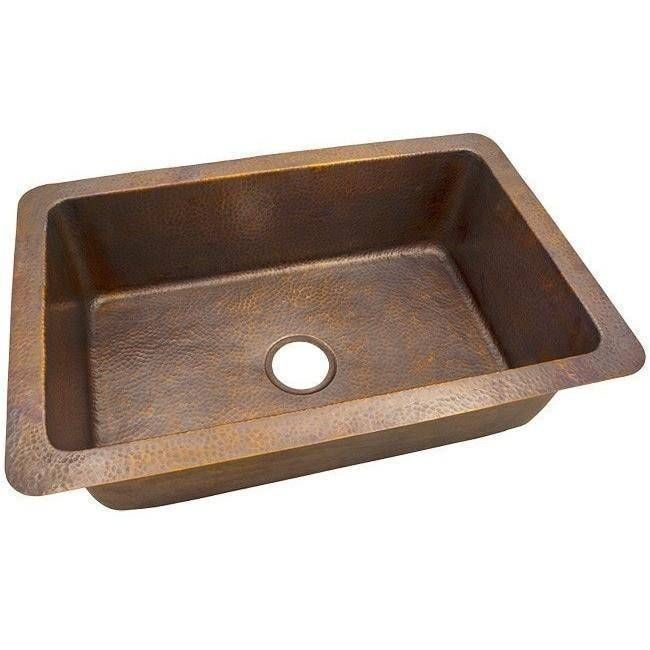 32 X 21 Hammered Copper Single Bowl Drop In Or Undermount Sink Drop In Kitchen Sink Copper Kitchen Sink Single Bowl Kitchen Sink
