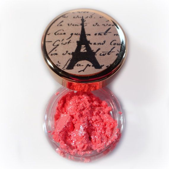 Vegan Mineral Makeup Eye Shadow Handmade -- Island Coral: Makeup Eyes, Eye Shadows