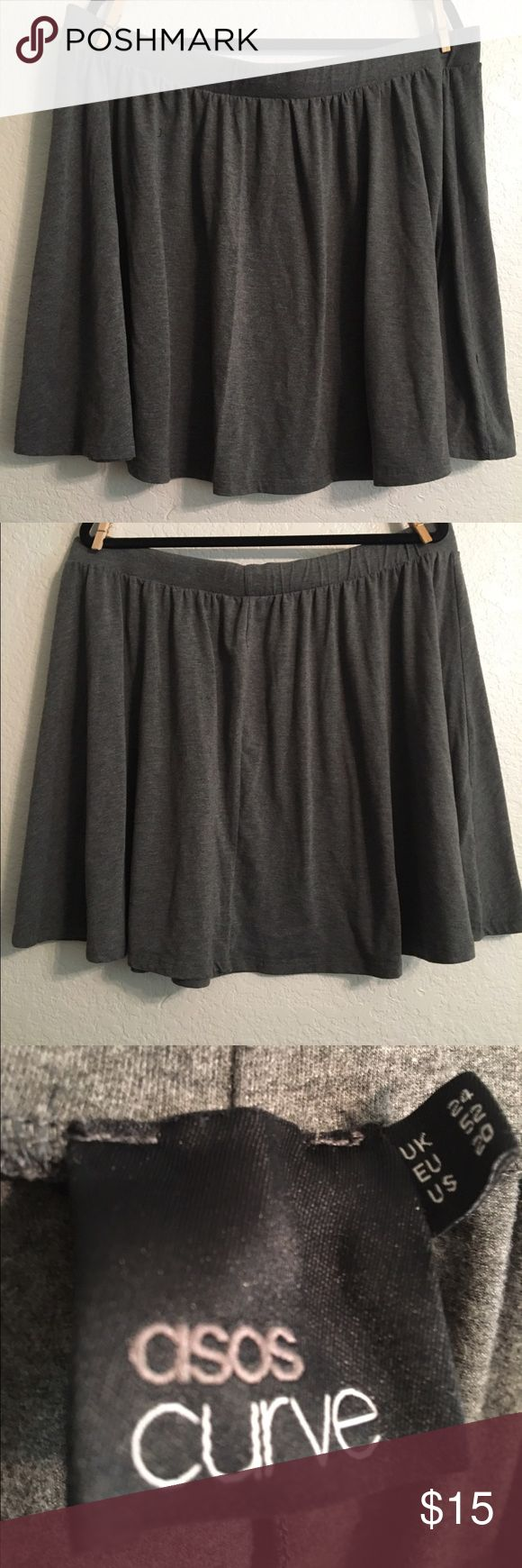 Asos Curve Grey Skater Mini Skirt Asos Curve Grey Skater Mini Skirt, Knit, Smoke Free and Pet Free Home ASOS Curve Skirts Mini
