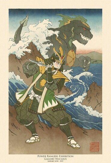 Green ranger samurai