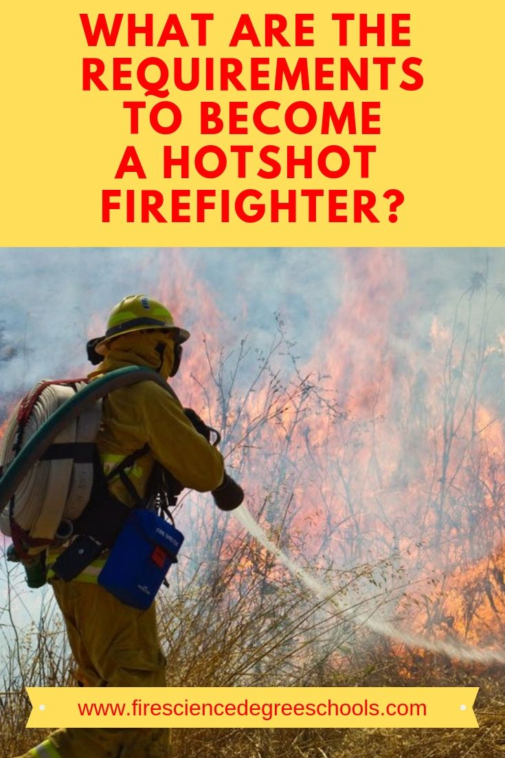 What are the requirements to a hotshot firefighter