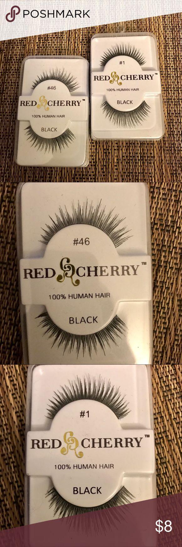 🆕 Red Cherry False Eyelashes (Set of 2) This bundle of brand new false eyelashes comes with 2 types of false eyelashes from Red Cherry. Red Cherry Makeup False Eyelashes