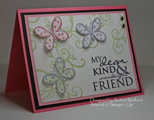 friend: Card Ideas Crafts, Cards Ideas, Butterfly Cards, Bing Images, Search, Friendship Card, Cards Paper Crafts Stamping, Stampin Up Cards