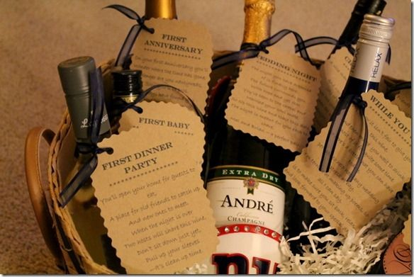 17 best images about diy wedding wine basket ideas on for Dinner party gift ideas