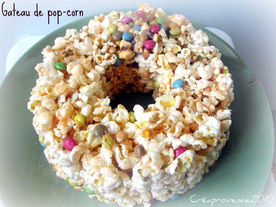 gâteau de pop-corn
