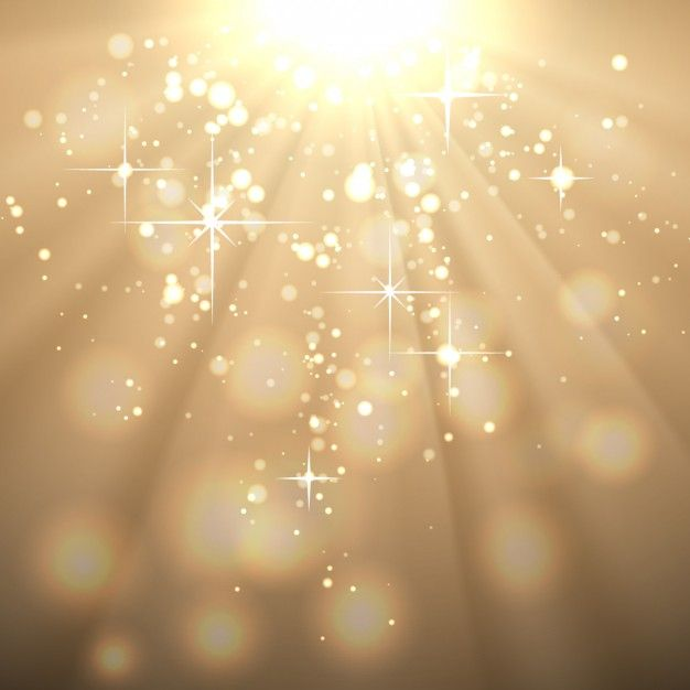Or abstrait avec les rayons du soleil Vecteur gratuit