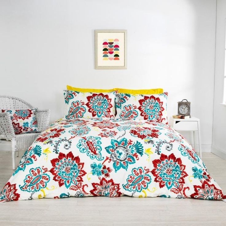 Camille Floral Red Duvet Cover - House of Decor