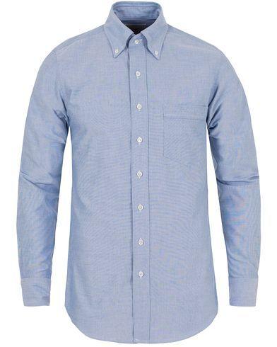 Drake's Slim Fit Oxford BD Shirt Blue i gruppen Design B / Kläder / Skjortor / Oxfordskjortor hos Care of Carl (13076811r)