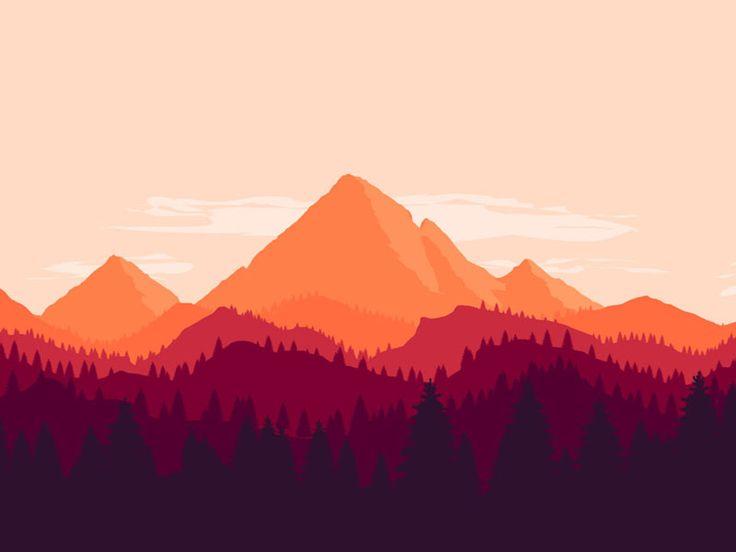 29 best fla t images on pinterest scenery digital for Mountain landscape design