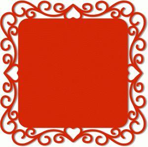 Design #45188~ornate square background frame
