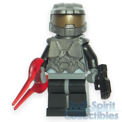 Lego HALO Custom *MASTER CHIEF* Dark Silver Color Minifig - FREE USA SHIPPING!!