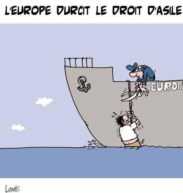 Lounis (2016-01-31) L'Europe durcit le droit d'asile   Presse-dz