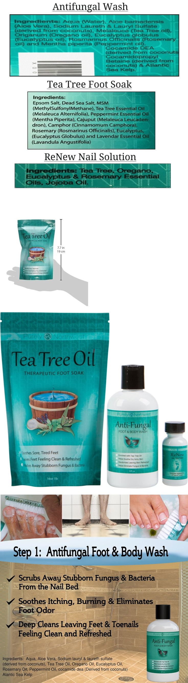 Foot Creams and Treatments: Toenail Fungus Treatment With Antifungal Soap, Tea Tree Oil Foot Soak And Renew. -> BUY IT NOW ONLY: $34.68 on eBay!